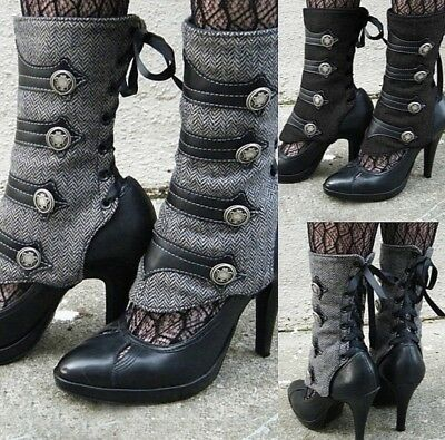 Steampunk Women's Spats - Military Style/Cosplay, Winter Favorite!