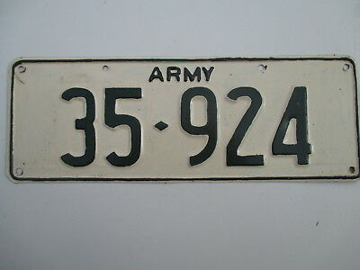 ROUGH REPAINT 1980s army military license plate
