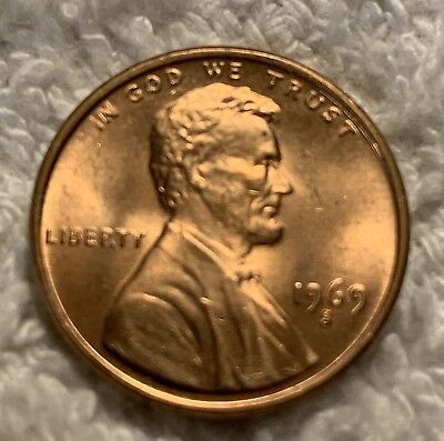 1969-S Lincoln Cent In Unc Condition From Obw Roll Wow Look
