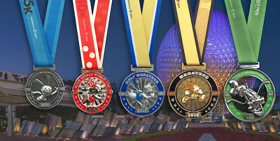 alt Disney World 2019 Marathon weekend finisher medals 5 Medals Goofy run LAST 1