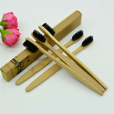 NEW Bamboo Charcoal Toothbrush Low Carbon Bamboo Nylon Wood Handle Toothbrush