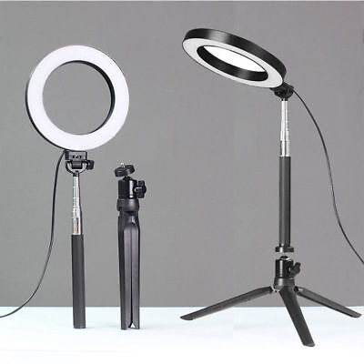 """13"""" 3 in 1 LED Ring Light Stand 5500K Dimmable Makeup Phone Camera Lighting Kit"""