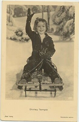 RARE! Shirley Temple Antique Vintage Original Ross Verlag Photo Postcard RPPC 05