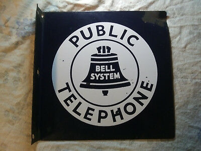 Bell Telephone Vintage Porcelain Sign (salvaged from WTC)