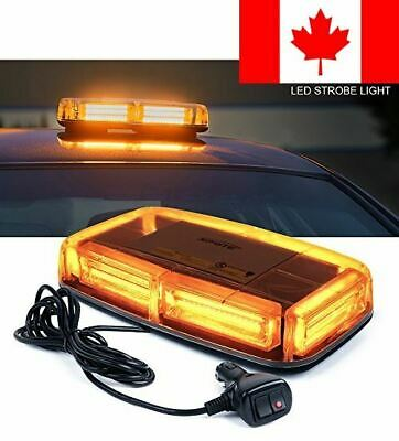 Xprite Burst Series 12V COB LED Amber/Yellow Roof Top Emergency Hazard Warnin...
