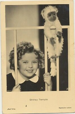 RARE! Shirley Temple Antique Vintage Original Ross Verlag Photo Postcard RPPC 11