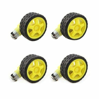 3X(4 Pcs For Arduino Smart Car Robot Plastic Tire Wheel with DC 3-6V Gear M L2X3