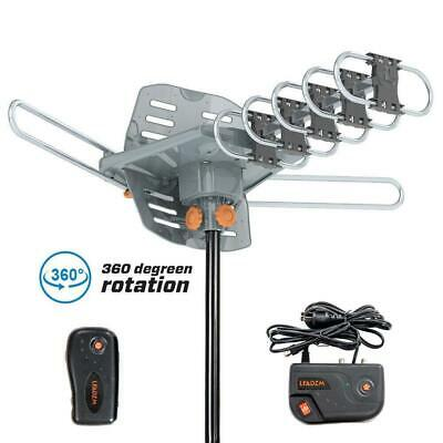 Leadzm 1080P 180Mile Outdoor Amplified HD TV Antenna Install-free 36dB UHF/VHF
