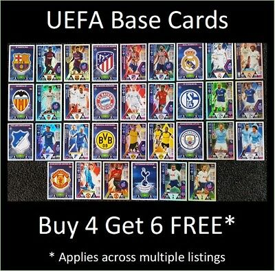 Match Attax 2018/19 UEFA Base Cards (#1-#198) Buy 5 Get 10 FREE