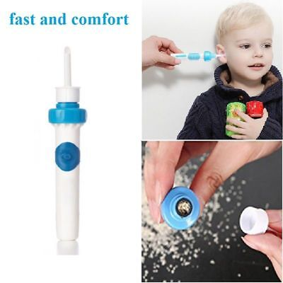 Electrical Cleaning Wax Remover Painless Ear Cleaner Care Safety Vacuum Tool UK