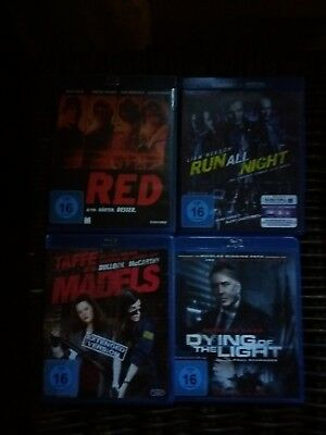 4 DVD blu-ray gebraucht RED / run all night / taffe Mädels / dying of the light