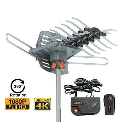 180Mile 1080P Outdoor Amplified TV Antenna Long Range 360 Ratator Digital Signal