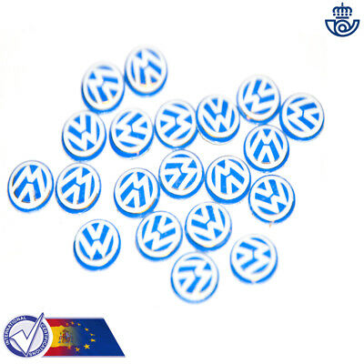 VW VOLKSWAGEN LOGOTIPO PEGATINA EMBLEMA LOGO 14mm 3D STICKER funda llave key