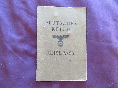 Deutsches Reich Reisepass (German State passport) dated 7 May 1937