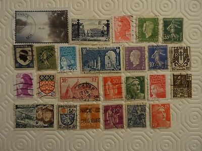 FRANCE - 25 x DIFFERENT FRENCH USED STAMPS