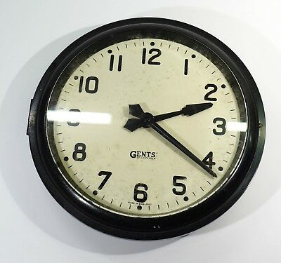 Industrial Looking Early 20th Century Electric Wall Clock by Gents of Leicester.