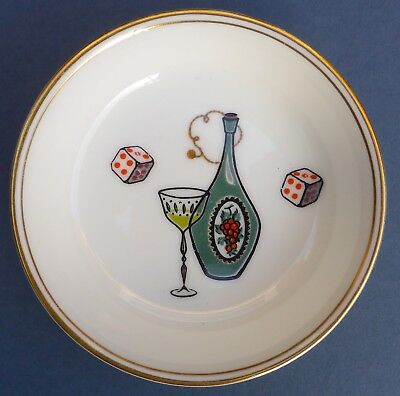Lovely Vintage Royal Worcester Gaming Dice Chip Pin Dish 1960s