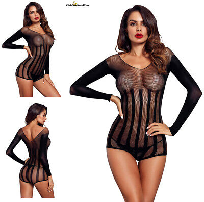 Hot Reizwäsche Fishnet Body Stocking Catsuit Netz Body Unterwäsche |H| 32326-2
