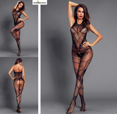 Hot Reizwäsche Fishnet Body Stocking Catsuit Netz Body Unterwäsche |H| 790002-2