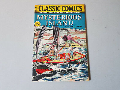 CLASSIC COMICS No. 34 Mysterious Island - 10c - HRN 35 - 1st edition