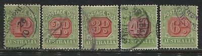 Australia 1922-30 various Postage Dues to 6d used