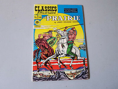 CLASSICS ILLUSTRATED No. 58 The Prarie  - 15c - HRN 132