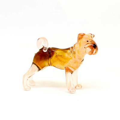 Middle blown glass figurine Dog - Shar Pei. Russian Murano Handmade #111
