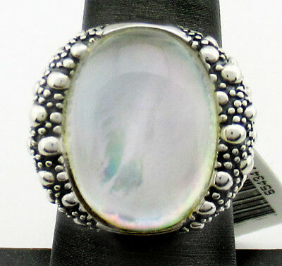 GENUINE MOTHER PEARL Michael Dawkins .925 STERLING SILVER RING * New With Tag