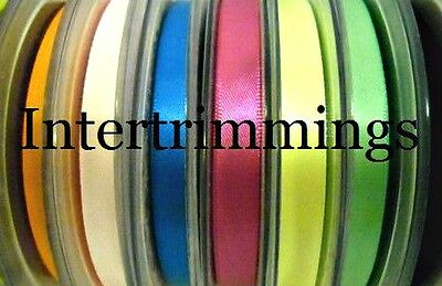 Double Sided Satin Ribbon, 10Mm, Assorted Colours, 25Mtr/Roll
