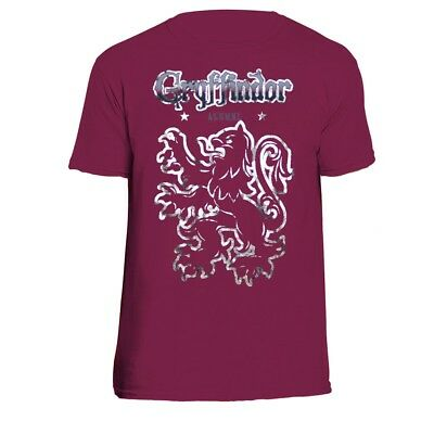 Harry Potter Gryffindor Alumni León Camiseta Vino Color Unisex Camiseta