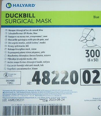 Halyard 48220 Duckbill Surgical Mask QTY 300