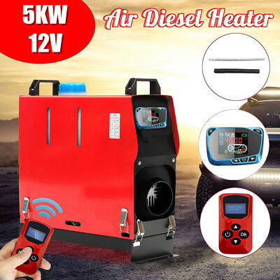 5KW 12V Air diesel Heater All in One LCD Monitor Remote For Truck Boat Bus RV