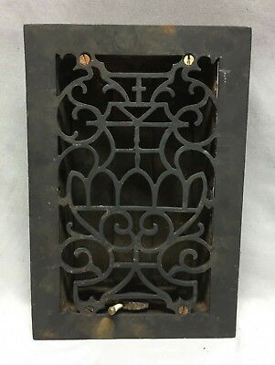 One Antique Cast Iron Decorative Heat Grate Floor Register 6X10 Vintage 94-19C