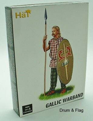 Hat 9089. Gallic Warband. 1/32 Scale Gauls. 54Mm Ancient Celts Britons
