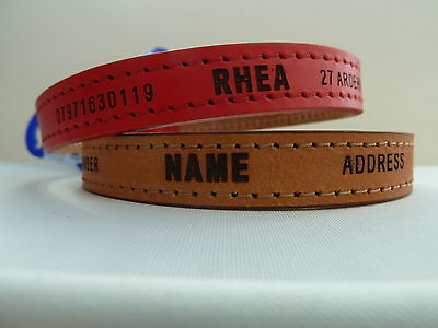 Plain or Personalised Ancol Heritage Leather Dog Collar  Premium English Leather