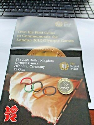 2008 Royal Mint Olympic Games Beijing Handover £2 Coin Bunc Pk