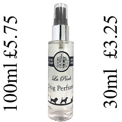 Dog Doggy Cologne Perfume Spray 100ml & 30ml UK manufacturers of Fine Fragrance