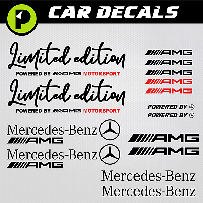 Mercedes Benz aufkleber Limited Edition Powered by AMG Sport sticker CLA Sclass