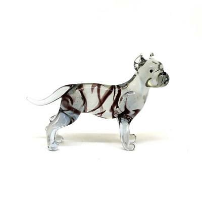 Middle glass figurine Dog - American staffordshire terrier Russian Murano #146
