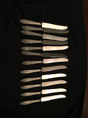 Lot of 12 International sterling silver dinner Knives Wedgwood pattern
