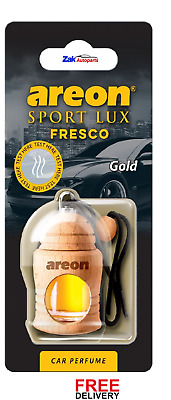 Air Freshener Areon Sport Lux Fresco GOLD Perfume Car Scent *NEW*