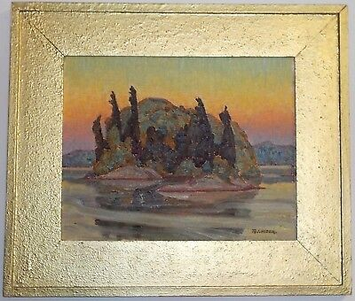 Beautiful Vintage Oil Painting by Canadian Artist Russel J. Hider, A.J. Casson