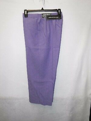 Women's Alfred Dunner Size 8 Lilac Studio Pull-On Capri Pants New Nwt #13750