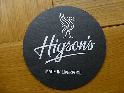 Higsons Brewery Beermat Made in Liverpool