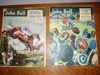 Vintage Pair Of John Bull Magazines 1950 Cup Final/grand National