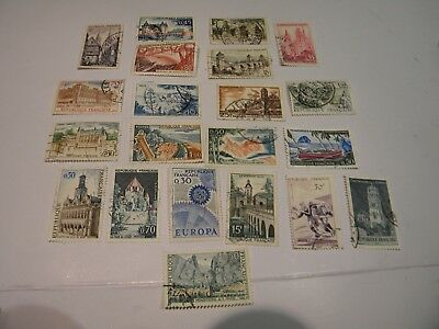 France Republique Francaise: A Mixed Lot Of 21 Used Stamps