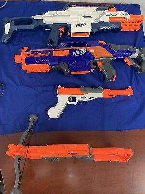 Lot of Nerf guns. Eite . and star wars nerf gun preowned great  condition