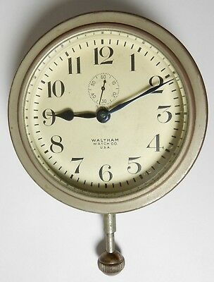 Antique Waltham Watch Company K-3 Auto Car 8 Day Wind Up Clock