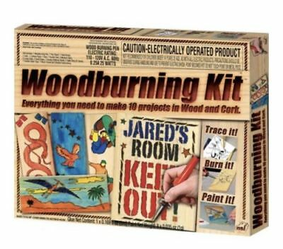 NSI Woodburning Kit Everything You Need To Make 10 Projects In Wood & Cork