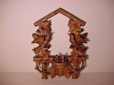 Nice Black Forest Germany Nesting Birds Style Cuckoo Clock Faceplate